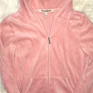 Juicy Couture Bubblegum Pink Velour Track Jacket